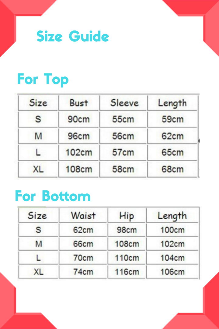 pajama-size-guide